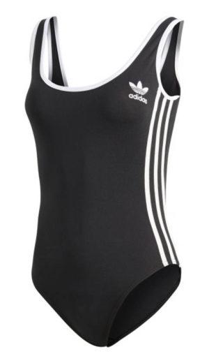 Sportovní plavky Adidas s hluboce vykrojenými zády