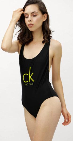 Černé značkové jednodílné plavky Calvin Klein