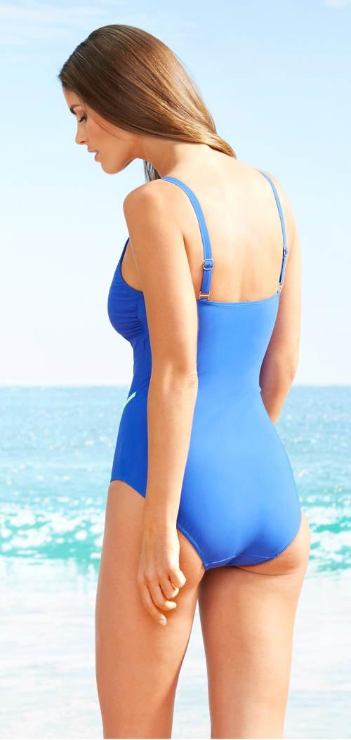 Modré stahovací dámské plavky