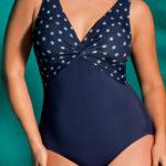 Modré zeštíhlující plavky s tvarujícím efektem