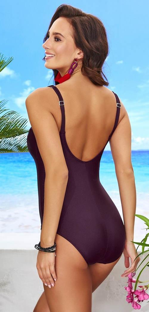 Fialové dámské jednodílné plavky Astratex