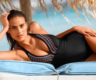 Glamour jednodílné plavky s vyjímatelnými pěnovými vycpávkami