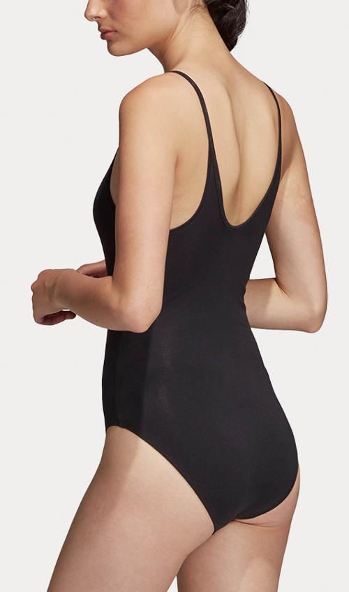 Černé jednobarevné dámské plavky adidas