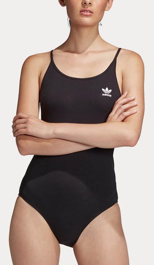 Černé jednodílné plavky adidas Originals Sc Body