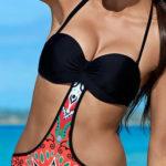 Jednodílné bardot plavky atraktivního střihu