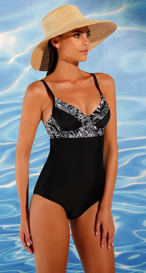Jednodílné plavky pro starší s kosticemi