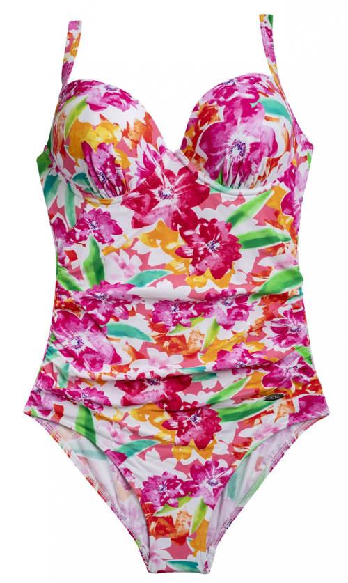 Pestrobarevné dámské jednodílné plavky Triola