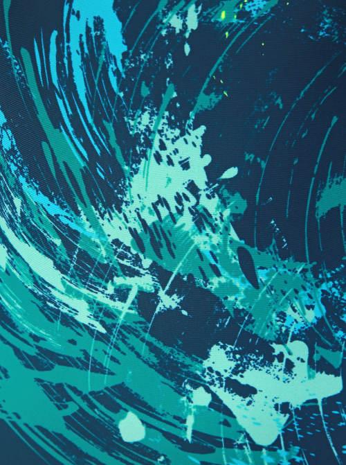 Plavky s abstraktním potiskem