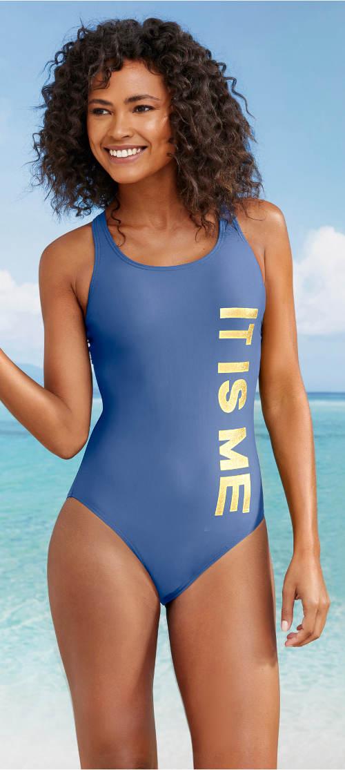Sportovní jednodílné plavky IT IS ME