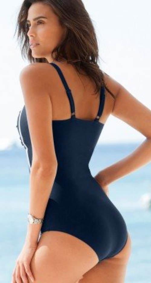 Tmavě modré zeštíhlující plavky