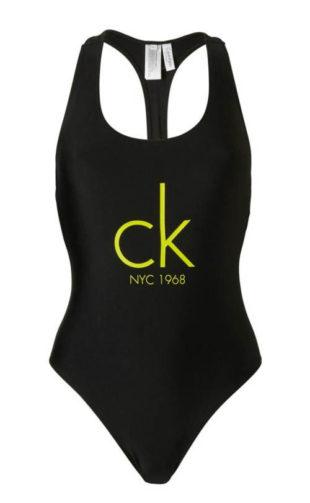 Černé dámské sportovní plavky Calvin Klein
