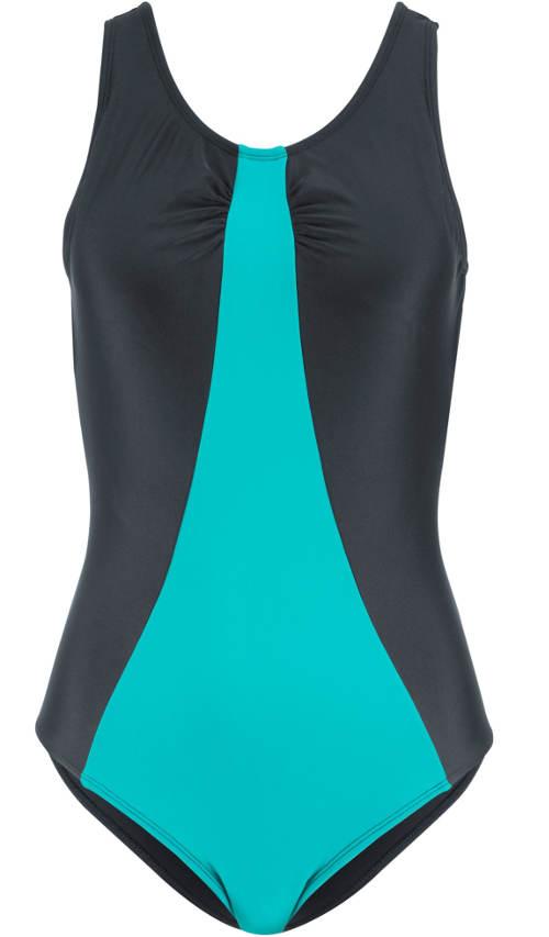 Černo modré sportovní plavky tvarující postavu