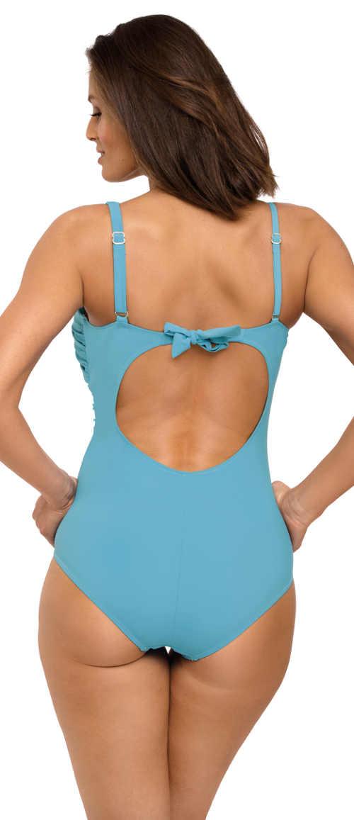 Modré jednodílné plavky s mašličkou na zádech Marko Gabrielle Marea