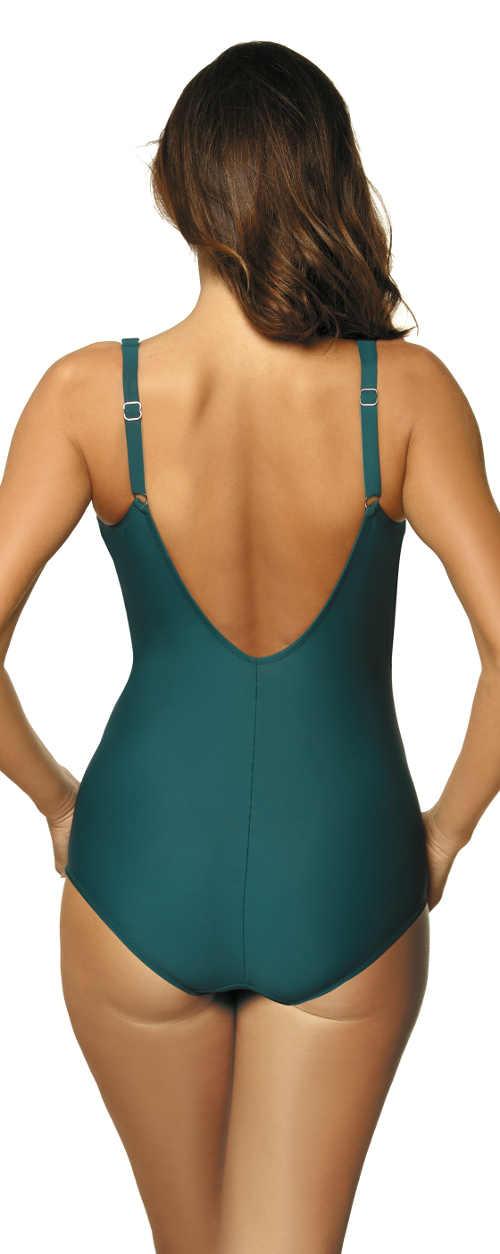 Tyrkysově zelené dámské dvoudílné plavky