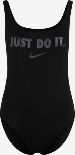 Černé sportovní dámské dvoudílné plavky Nike Just do it