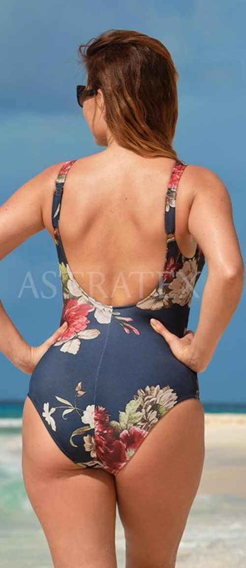 Květované jednodílné plavky chic