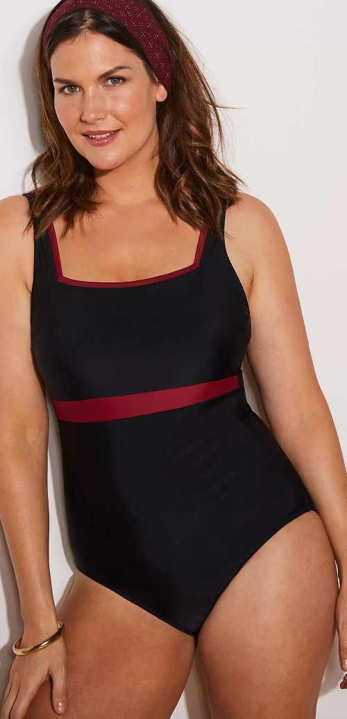 Okouzlující dámské jednodílné plavky se zeštíhlujícím efektem