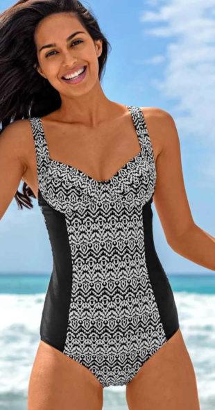 Jednodílné zeštíhlující plavky Blancheporte Porta s kosticemi