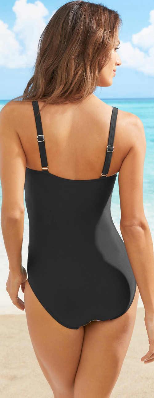 Levné černé dámské jednodílné plavky Bonprix