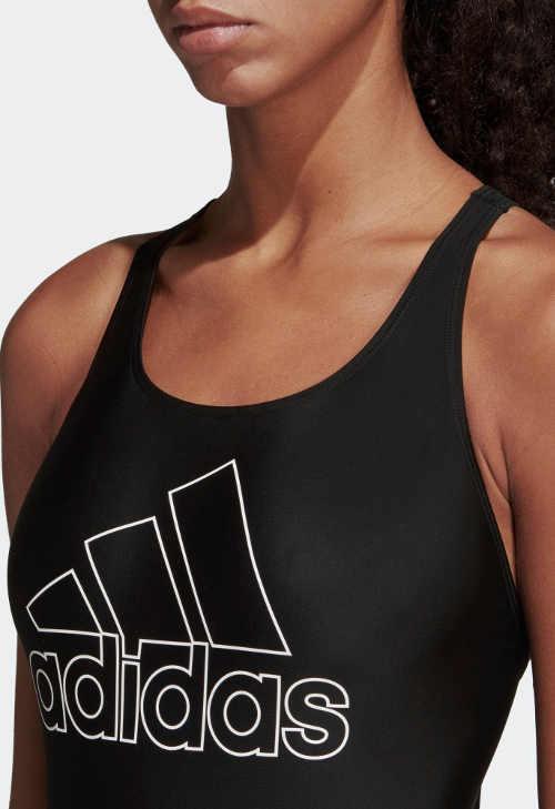 Černé dámské jednodílné plavky Adidas s velkým logem