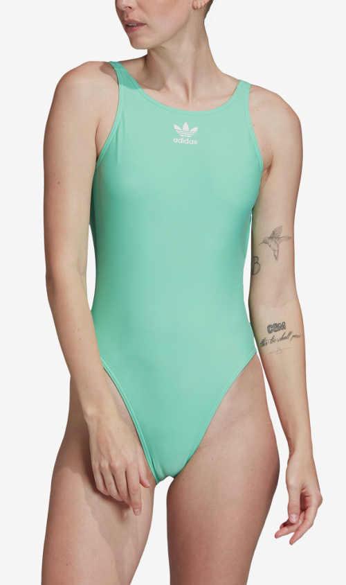 Sportovní dámské plavky Adidas v lichotivém střihu