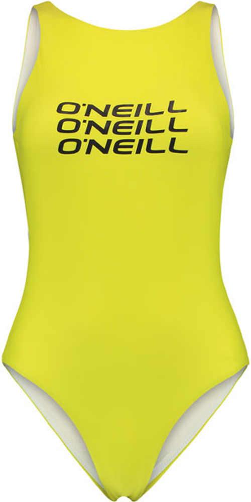 Trendy sportovní plavky vcelku v žlutém provedení