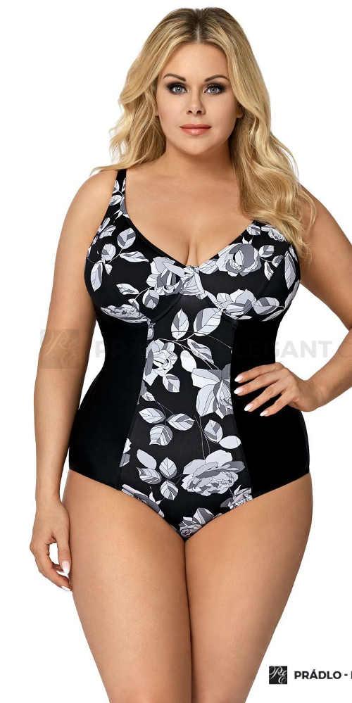 moderní plavky vcelku pro dámy s většími ňadry