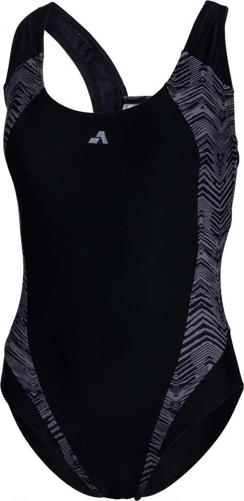 černo-šedé dámské sportovní plavky