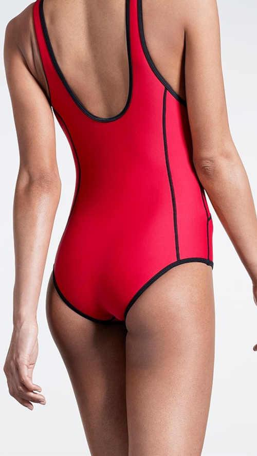sportovní plavky v přední části na zip