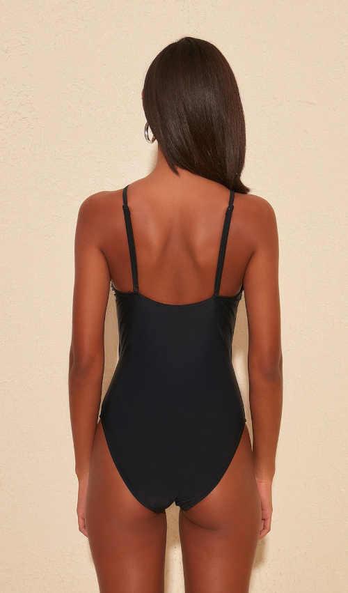 černé sexy jednodílné plavky