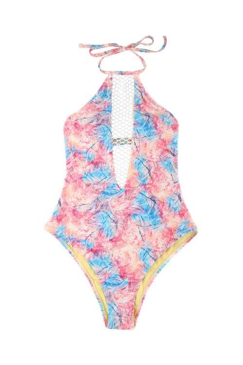 moderní sexy plavky modro-růžové