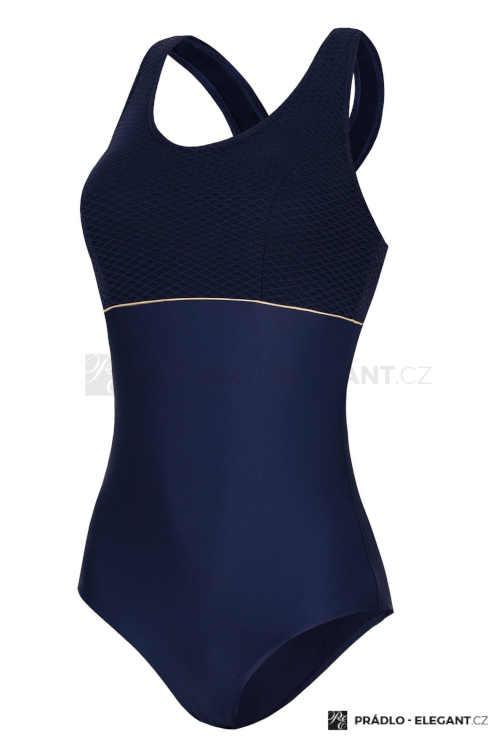 modré luxusní jednodílné plavky