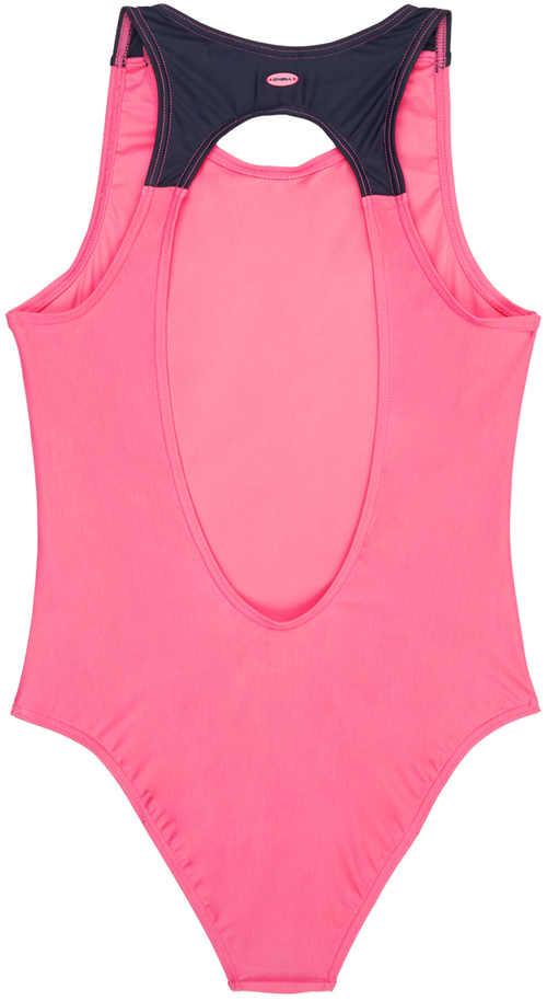 růžové dívčí plavky vcelku