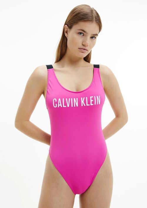 Dámské plavky Calvin Klein v klasickém sportovním střihu