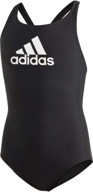Dívčí kvalitní sportovní plavky Adidas v černo-bílé variantě