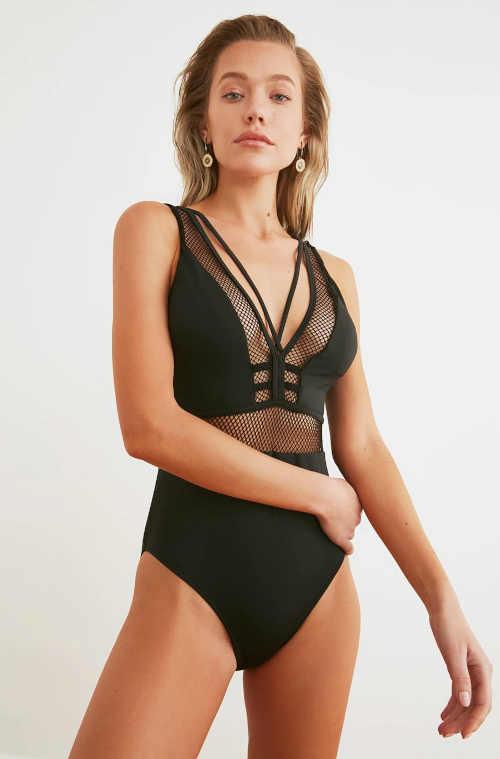 černé sexy plavky v celku