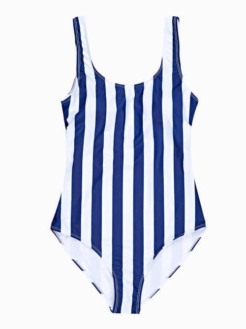 modro-bílé plavky v celku
