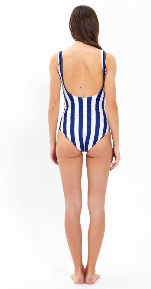 proužkované dámské jednodílné plavky