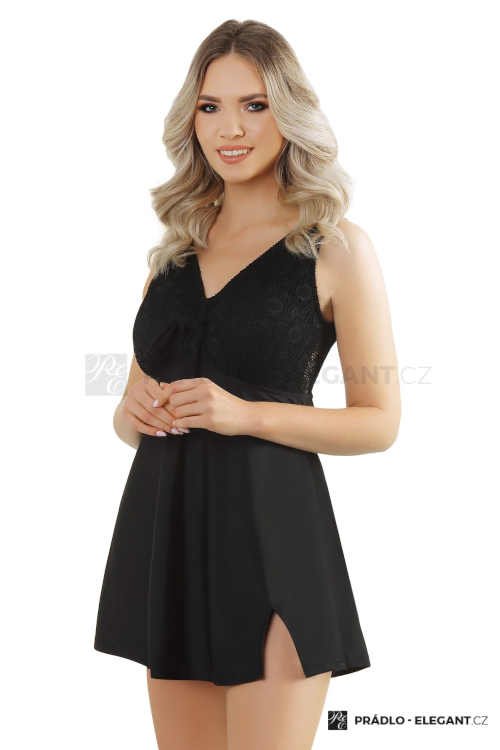 Jednodílné plavky s elegantní sukní pro dámy plus size
