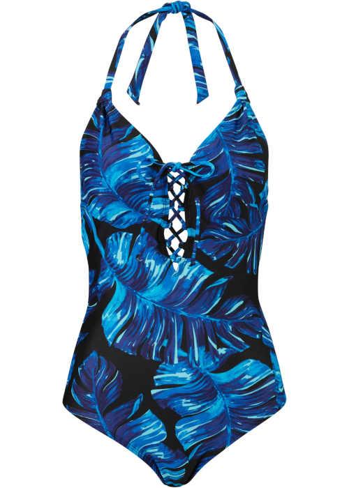 Vzorované plavky Bonprix s rafinovaným šněrováním